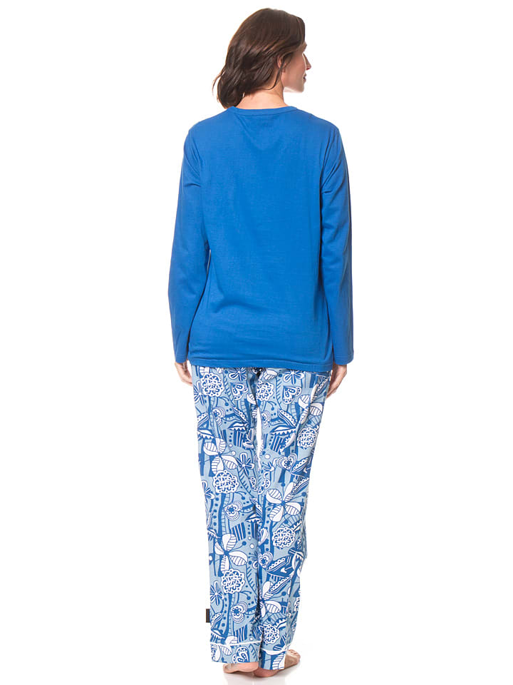Dutch Bakery Pyjama in Blau/ Bunt