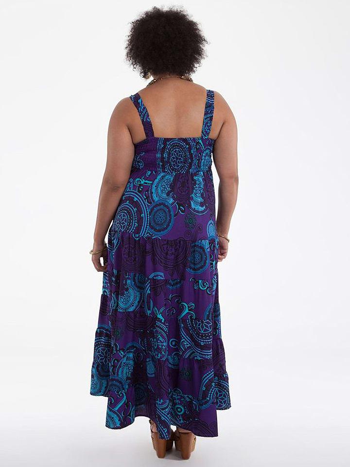 Aller Simplement Kleid in Lila/ Türkis