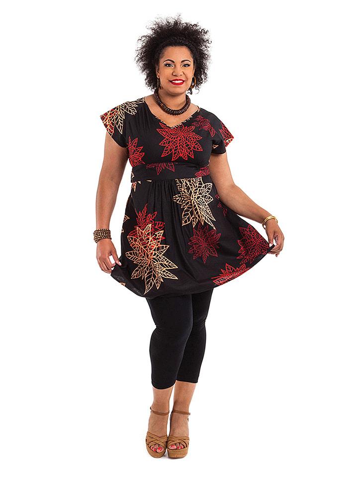 Aller Simplement Kleid in Schwarz/ Rot
