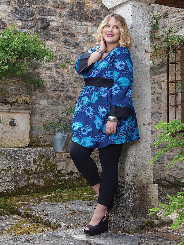 Aller Simplement Tunika in Blau/ Hellblau