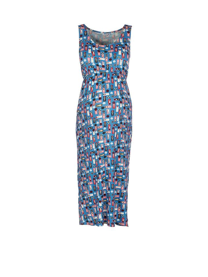 2hearts Kleid in Blau/ Bunt