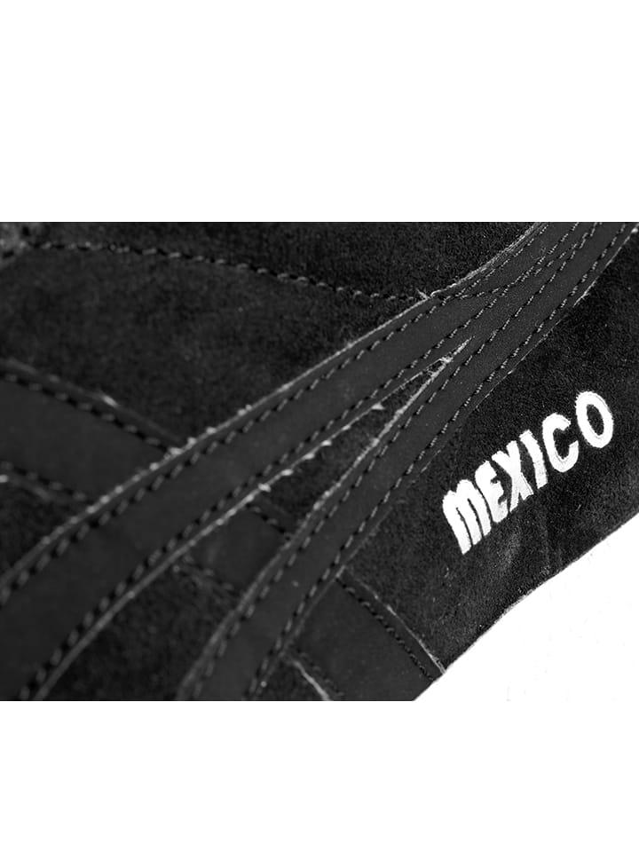 """Onitsuka Tiger Leder-Sneakers """"Mexico Delegation"""" in Schwarz"""