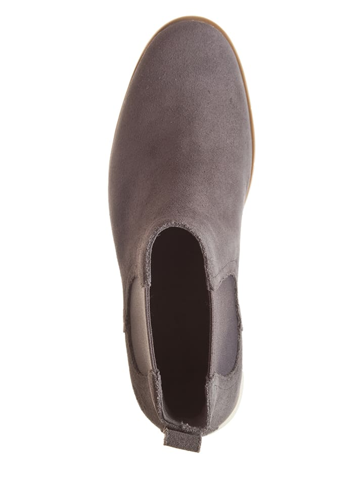 Timberland Leder-Chelsea-Boots in Hellgrau