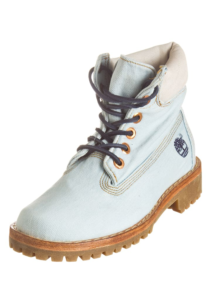 Timberland Boots in Hellblau