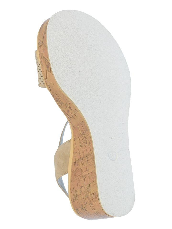 """U.S. Polo Leder-Sandaletten """"Ruby"""" in Beige"""
