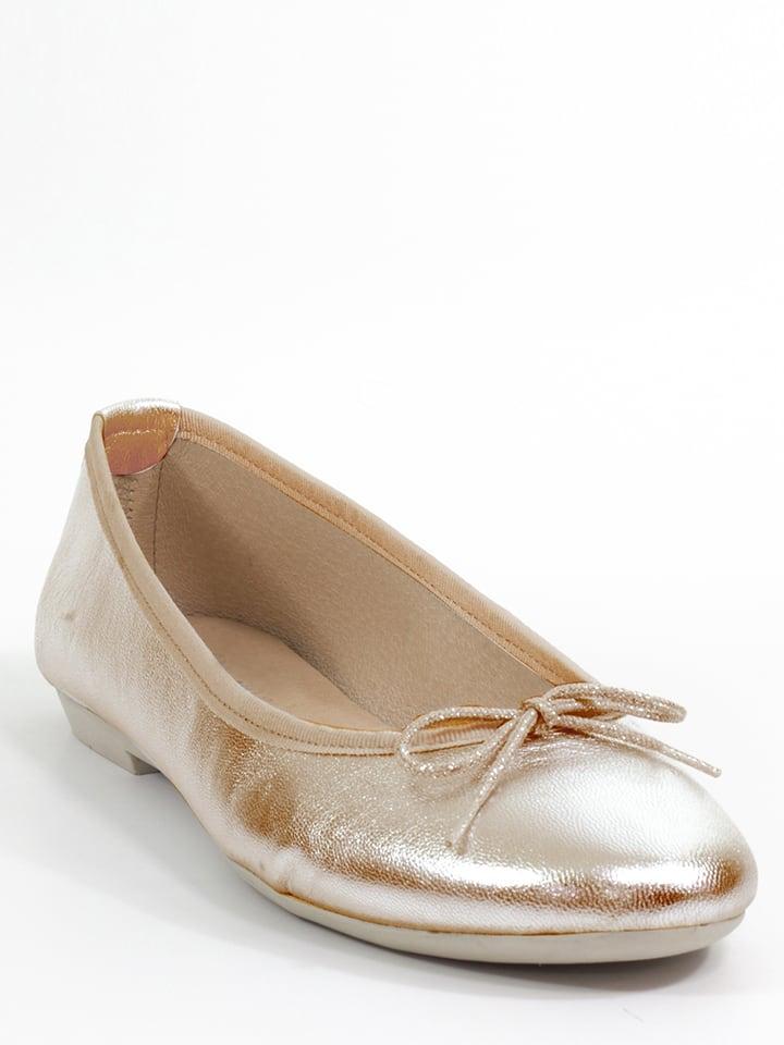 Mia Loé Leder-Ballerinas in Rosegold