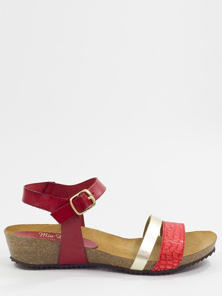 Mia Loé Leder-Sandalen in Rot