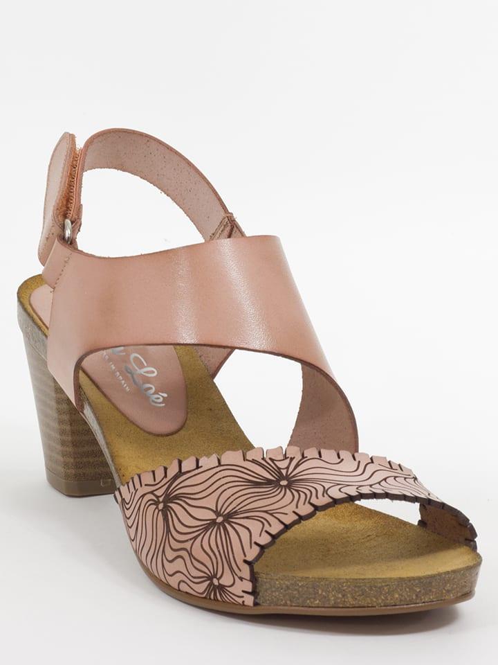 Mia Loé Leder-Sandaletten in Rosé