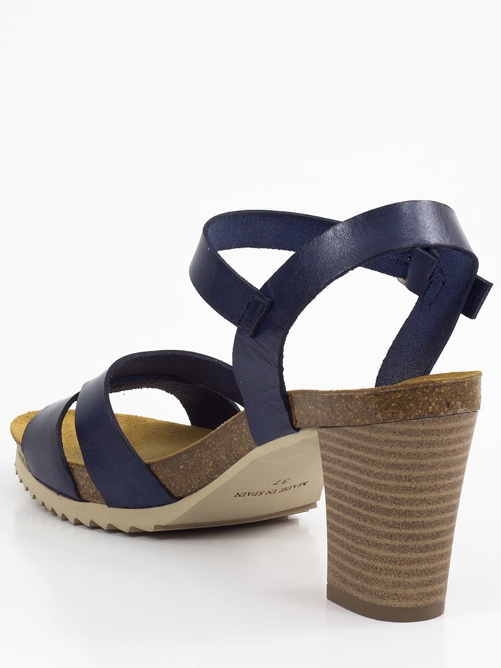 Mia Loé Leder-Sandaletten in Dunkelblau