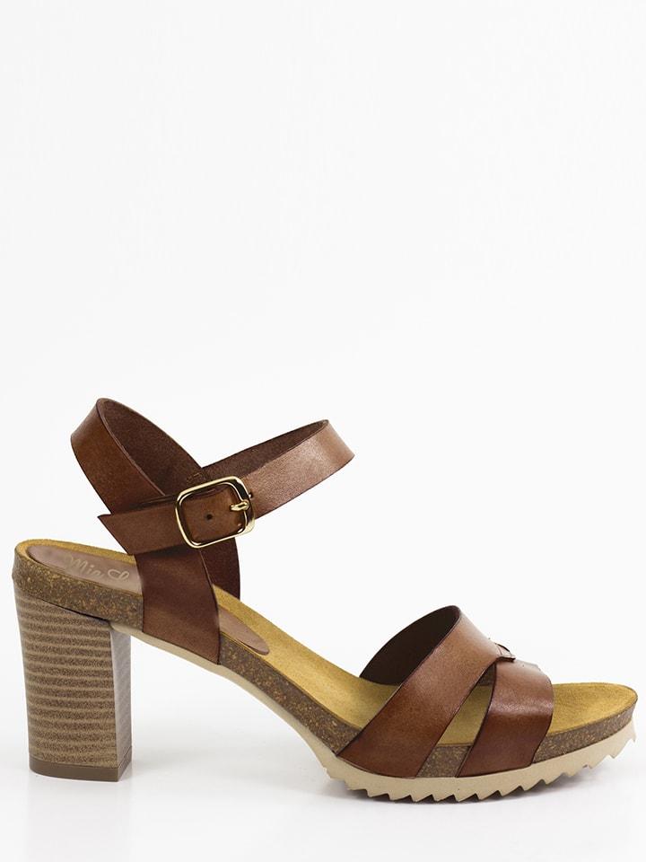 Mia Loé Leder-Sandaletten in Braun