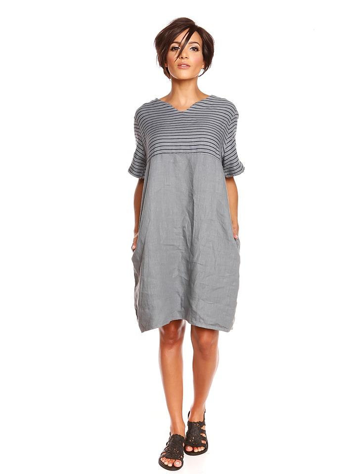 """Pur Lin Leinen-Kleid """"Chloe"""" in Grau"""