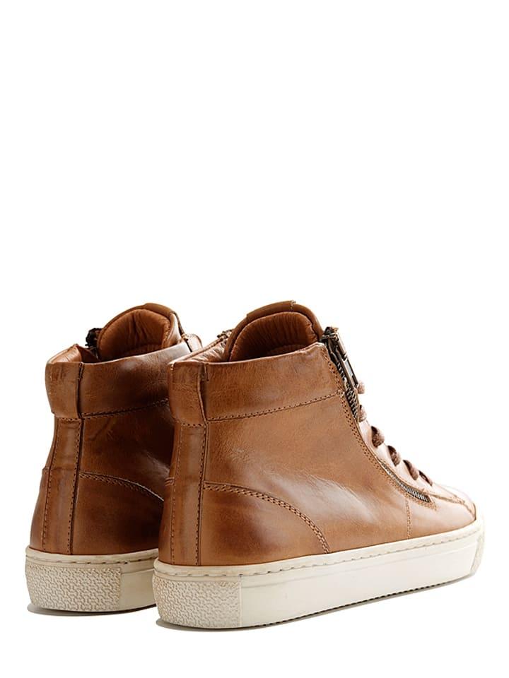 "TRAVELIN' Leder-Sneakers ""Orléans"" in Cognac"