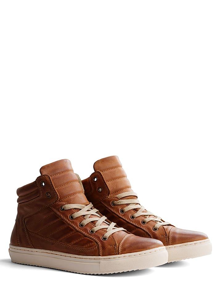 """TRAVELIN' Leder-Sneakers """"Nice"""" in Cognac"""
