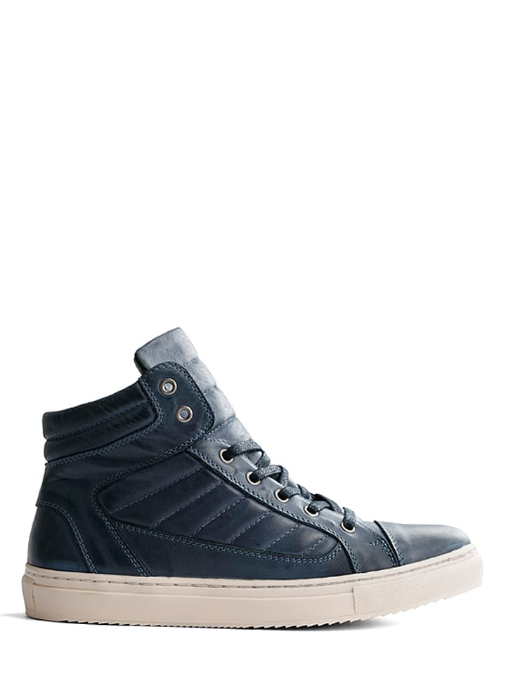 "TRAVELIN' Leder-Sneakers ""Nice"" in Dunkelblau"
