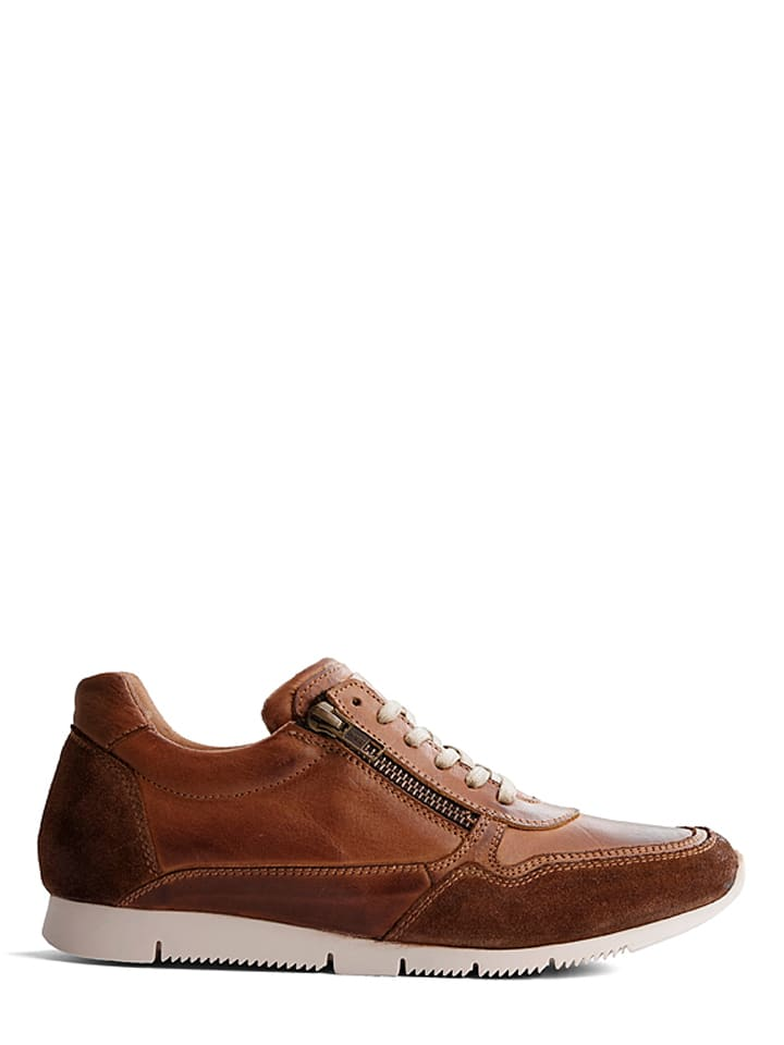 "TRAVELIN' Leder-Sneakers ""Nancy"" in Cognac"