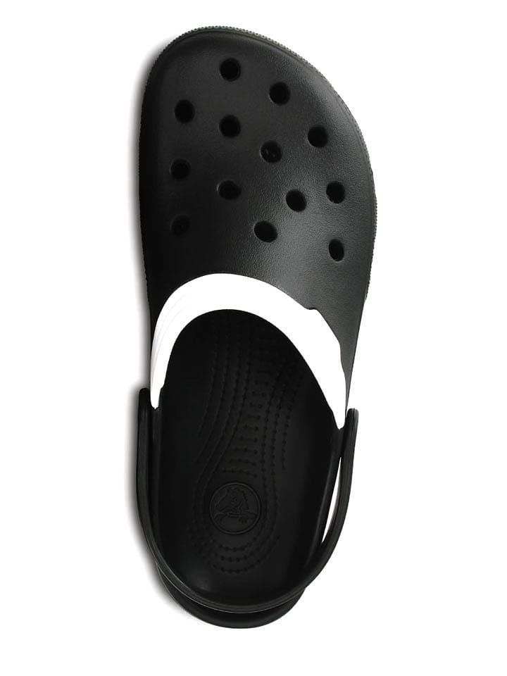 """Crocs Clogs """"Duet"""" in Schwarz/ Weiß"""