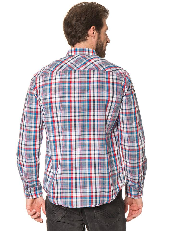 Tom Tailor Hemd in Dunkelblau/ Rot