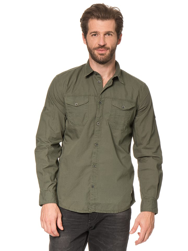 Tom Tailor Hemd in Khaki