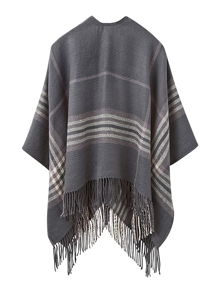 "Tom Joule Cape ""Innis"" in Grau/ Creme"