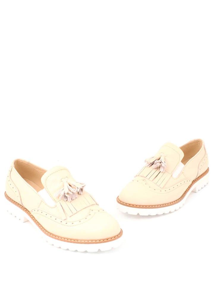 Zapato Leder-Slipper in Beige