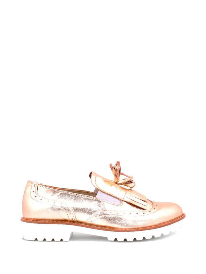 Zapato Leder-Slipper in Gold