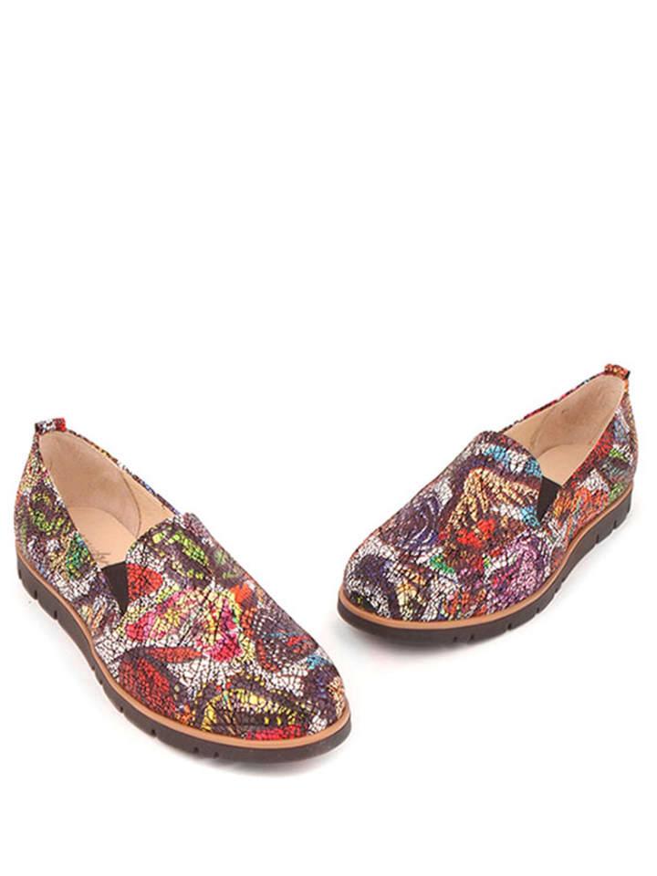 Zapato Leder-Slipper in Bunt