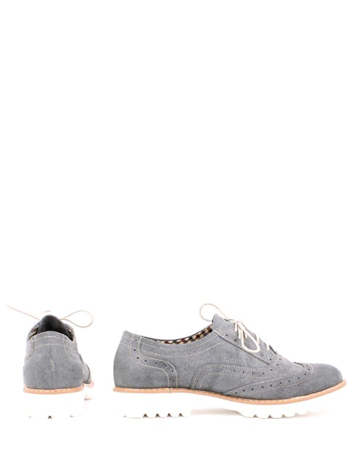 Zapato Leder-Schnürschuhe in Grau