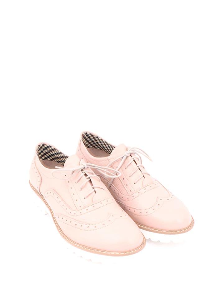 Zapato Leder-Schnürschuhe in Rosa