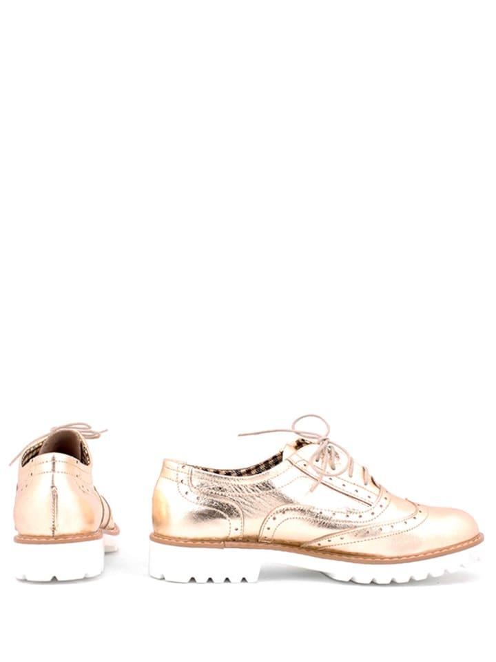 Zapato Leder-Schnürschuhe in Gold