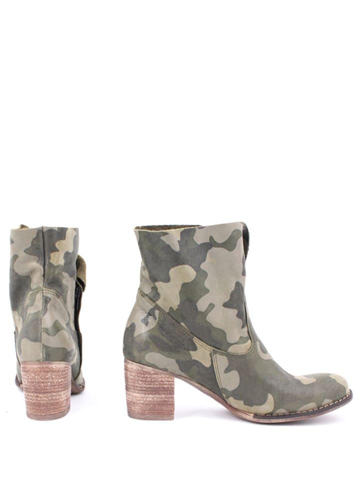 Zapato Leder-Stiefeletten in Khaki - 64% 1e1zZBsMN