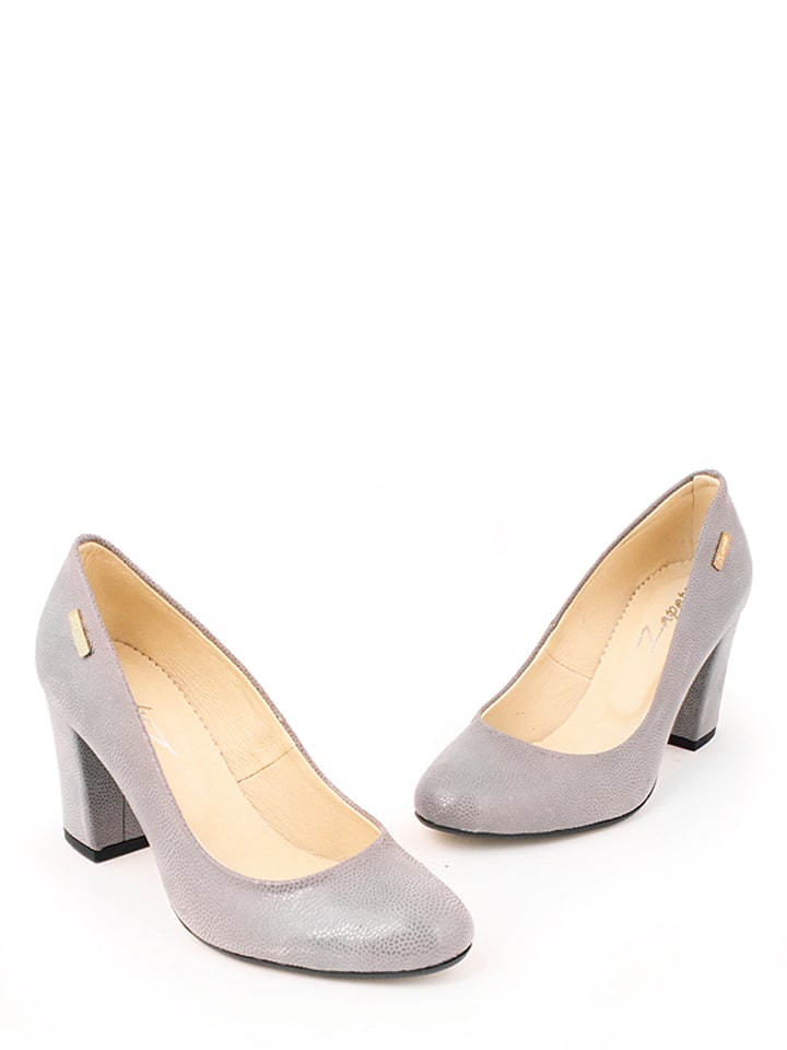 Zapato Leder-Pumps in Grau