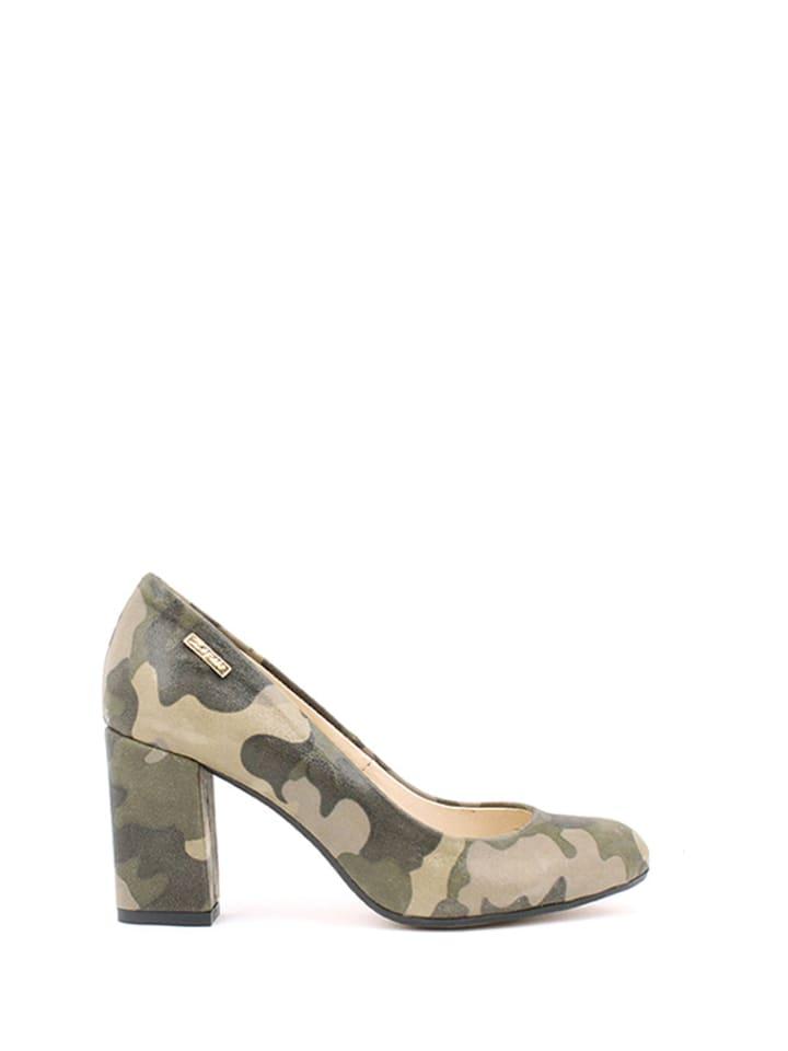 Zapato Leder-Pumps in Khaki