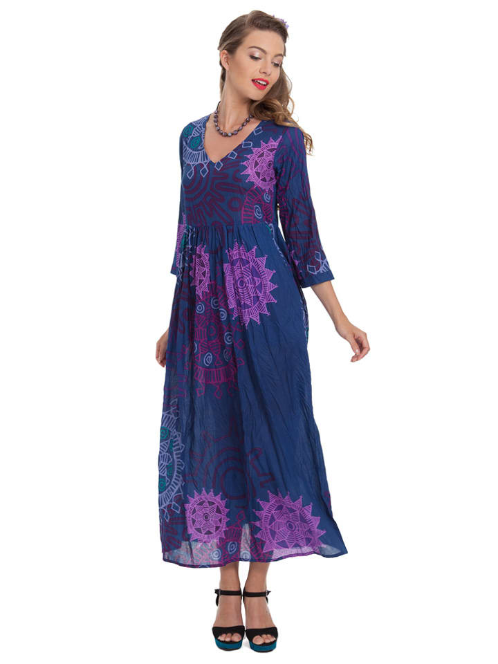 Aller Simplement Kleid in Dunkelblau/ Lila