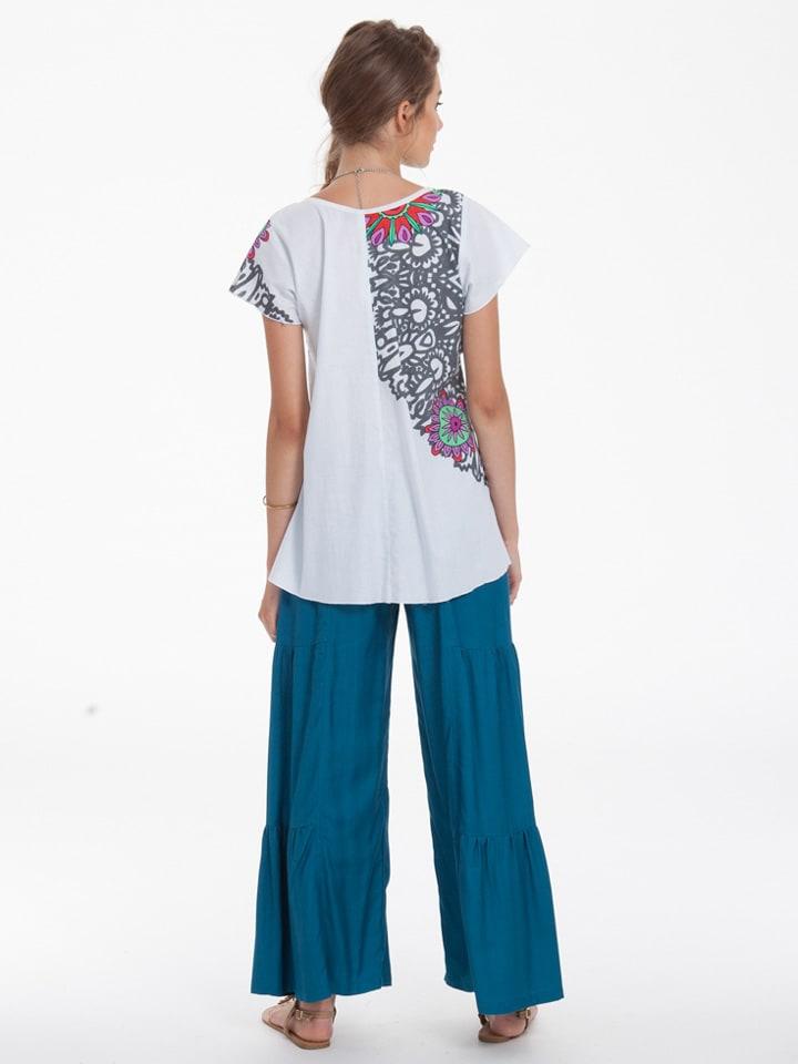 Aller Simplement Shirt in Weiß/ Blau