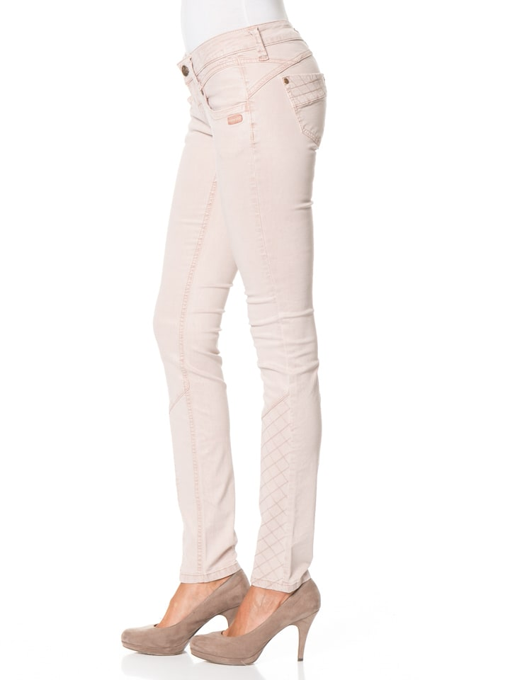 "Gang Hose ""Nena Cross"" - Skinny Fit - in Rosé"