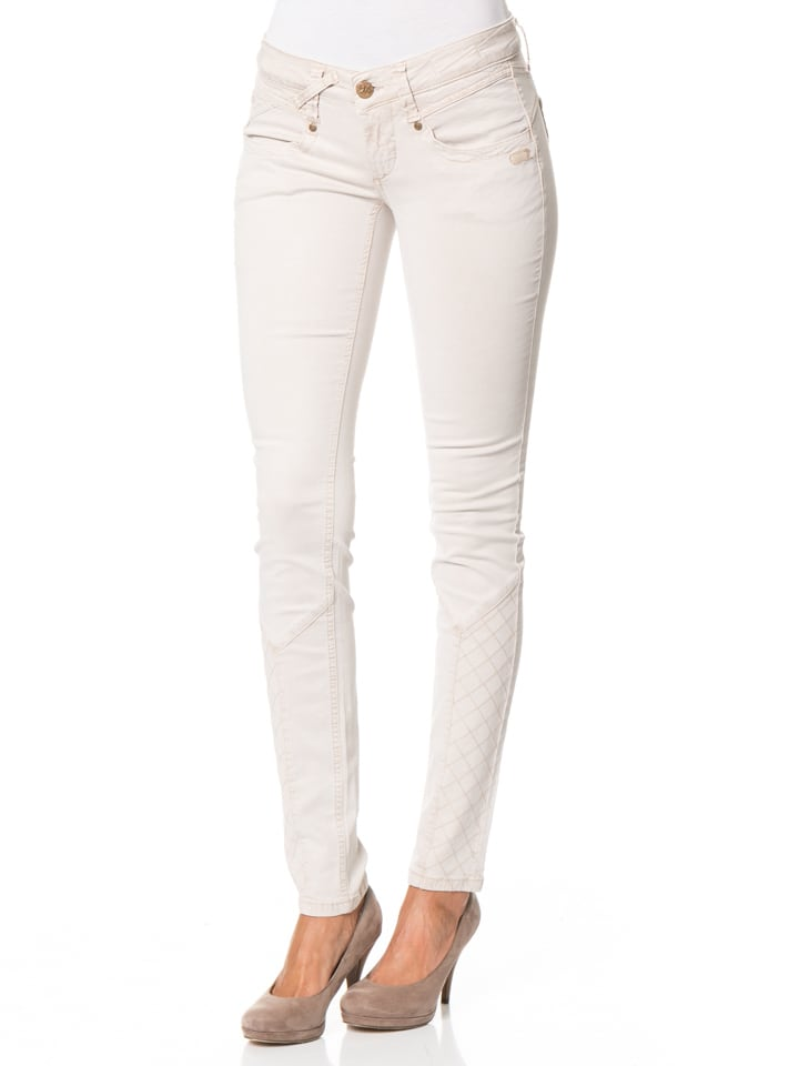 Gang Hose Nena Cross - Skinny Fit - in Hellgrau