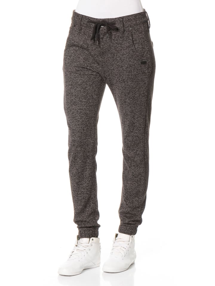 "Gang Hose ""Cosy"" - Slim Fit - in Anthrazit"