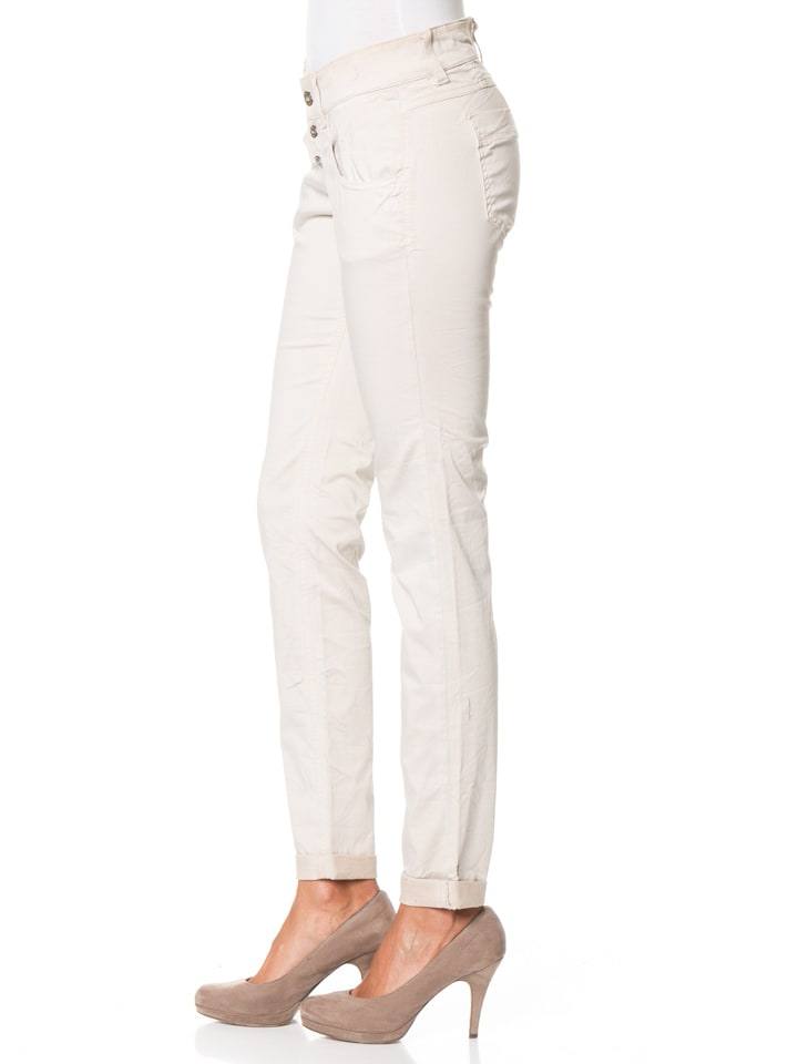 "Gang Hose ""Valencia"" - Relaxed Fit - in Creme"