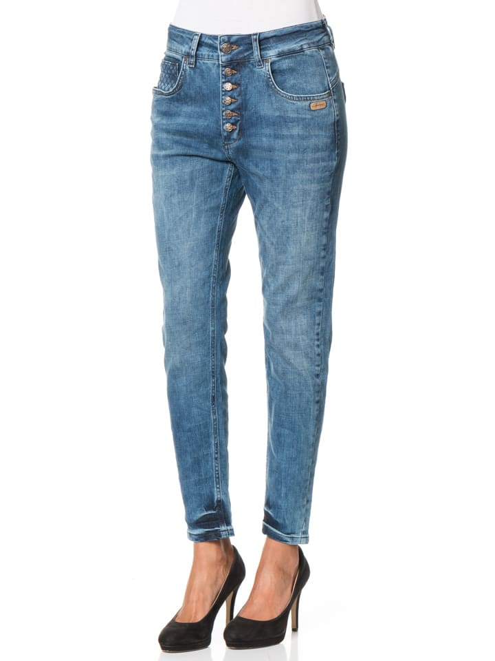 "Gang Jeans ""Rome"" - Deep Crotch - in Blau"
