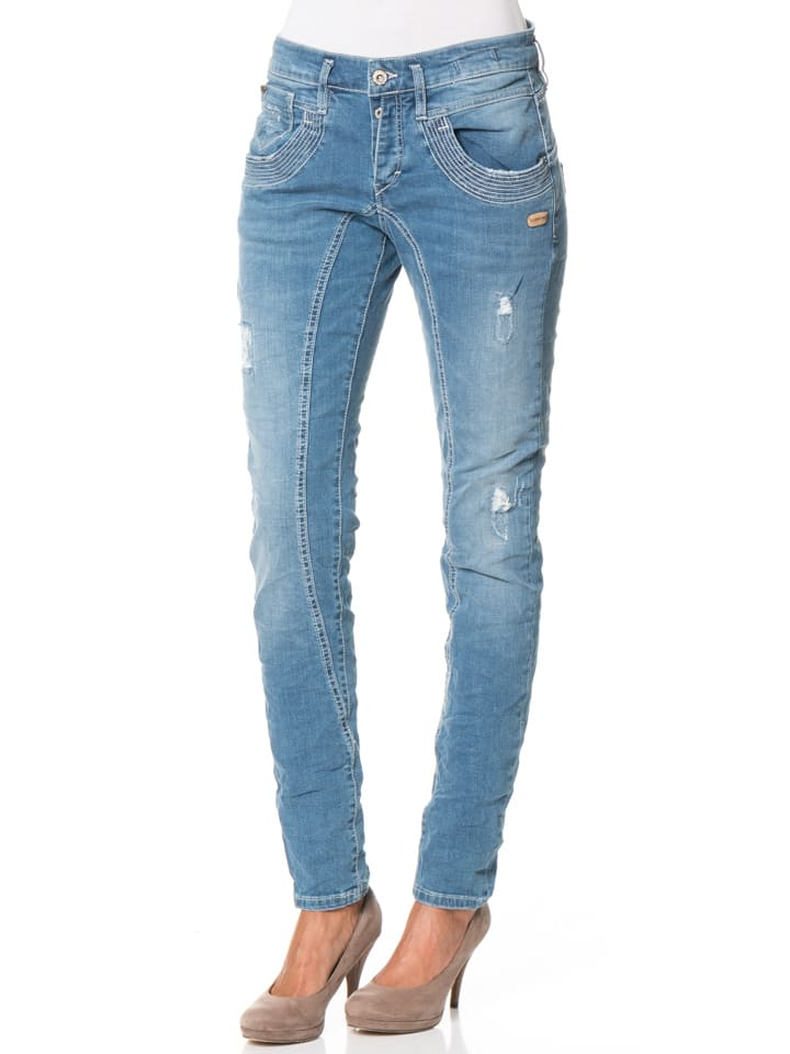 "Gang Jeans ""Geraldine"" - Deep Crotch - in Blau"