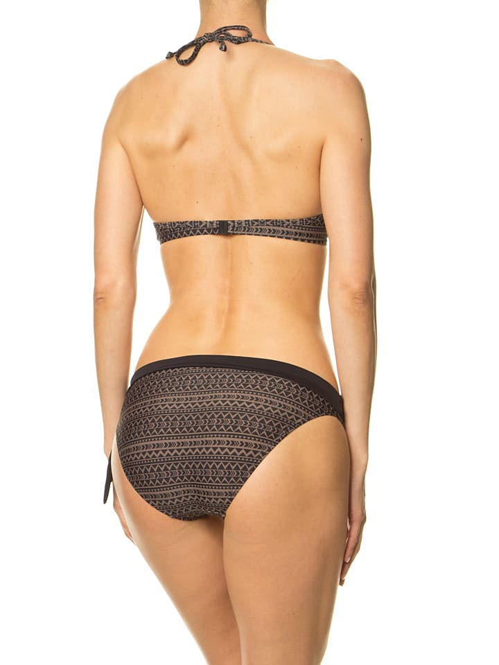 Venice Beach Bikini in Grau/ Schwarz