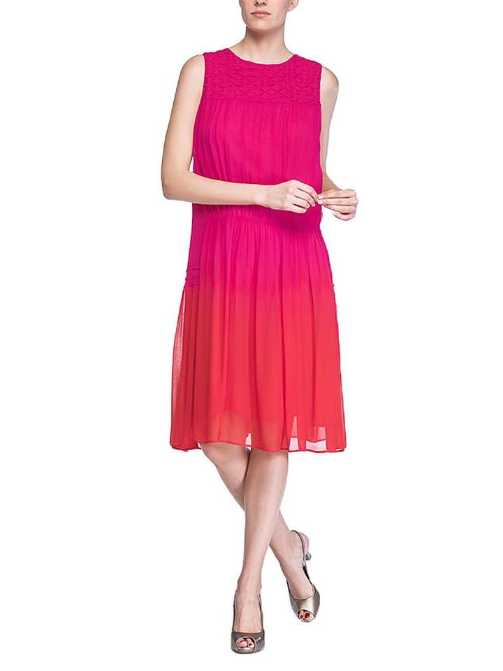 Niza Kleid in Pink/ Rot