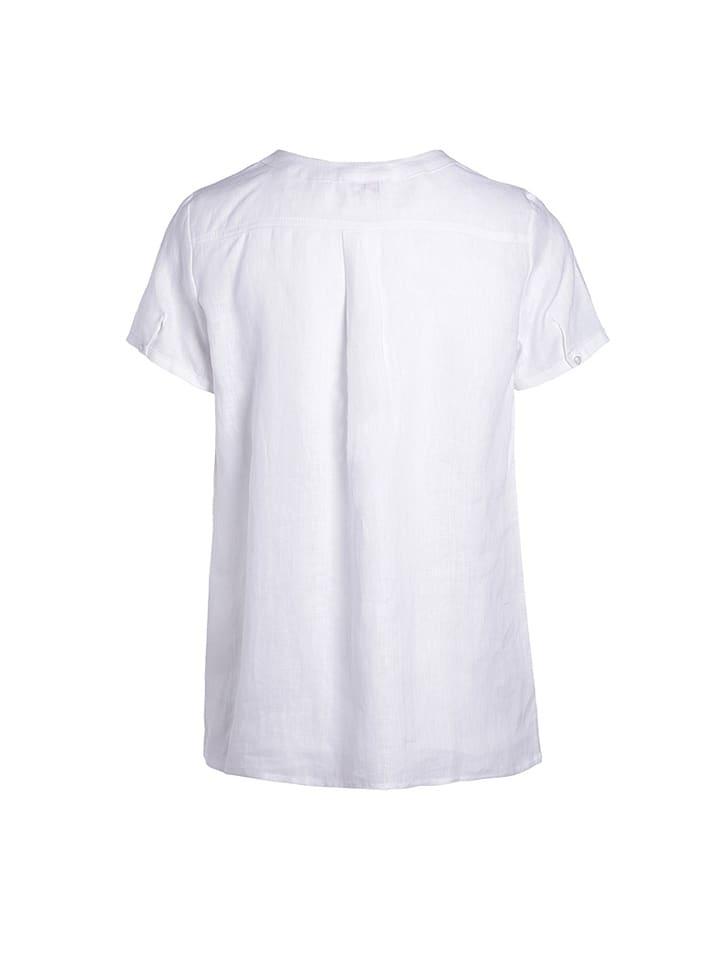 Scottage Leinen-Shirt in Weiß