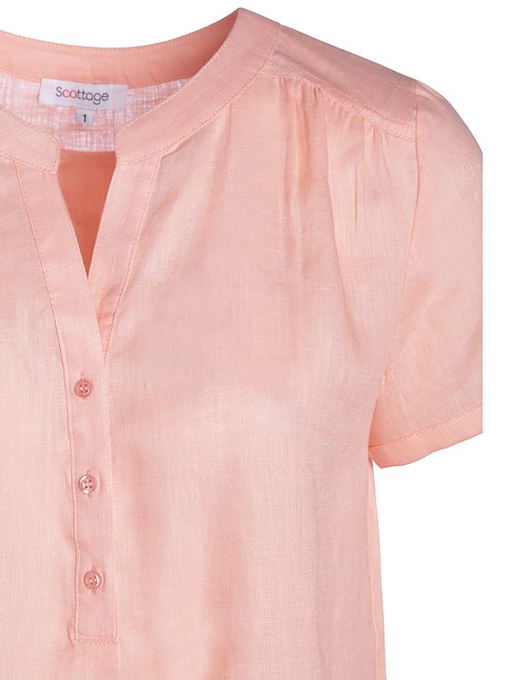 Scottage Leinen-Shirt in Rosa