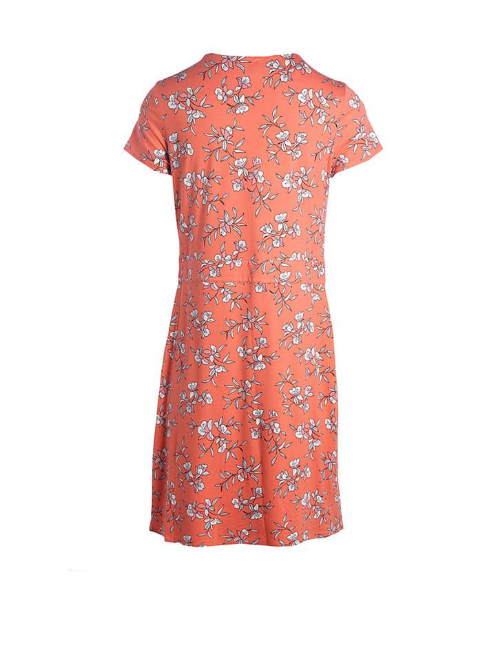 Scottage Kleid in Koralle/ Weiß