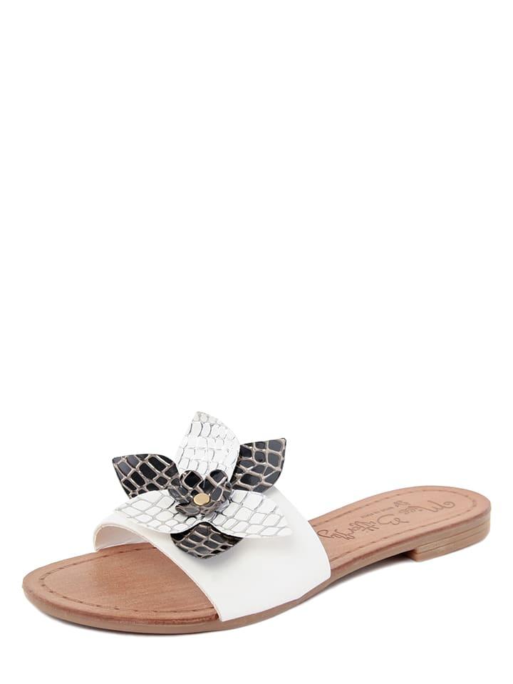 Miss Butterfly Pantoletten in Weiß