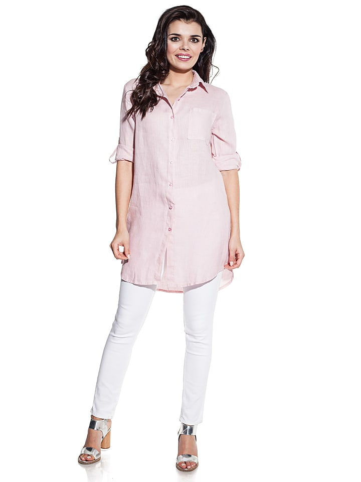 COSMO Leinen-Bluse in Rosé
