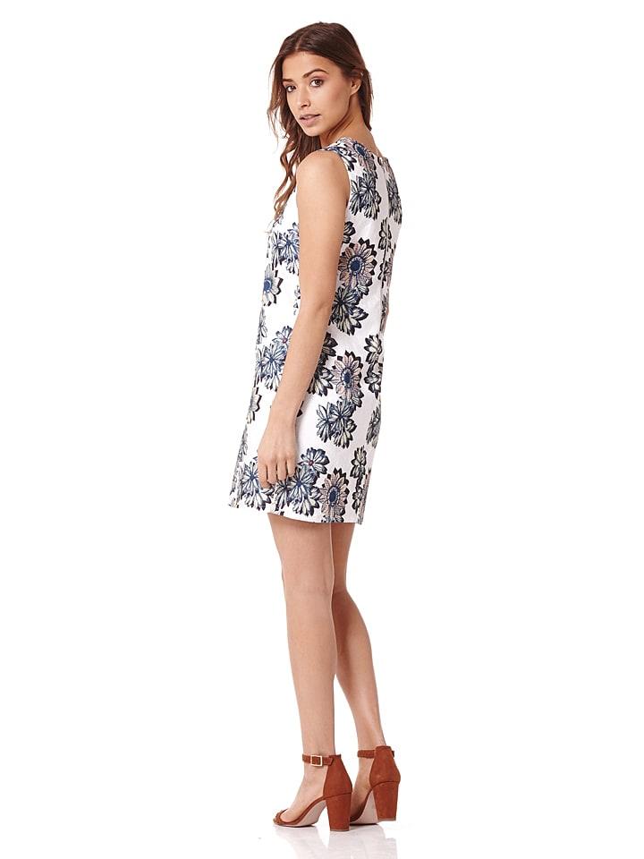 Iska Kleid in Weiß/ Dunkelblau