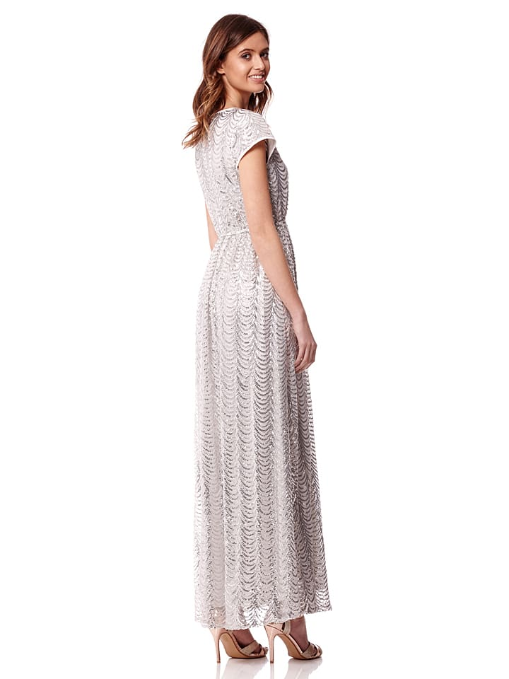 Iska Kleid in Weiß/ Silber