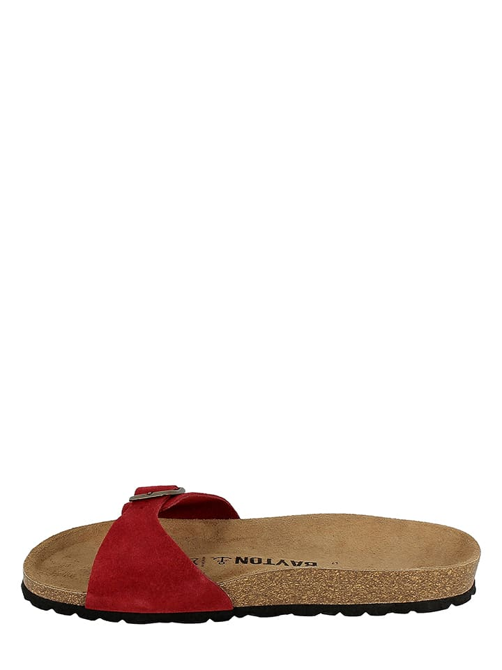 BAYTON Leder-Pantoletten in Rot